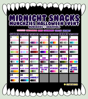 [ CLOSED ] Munchzies Halloween Calendar 2017 by BoozeDoll