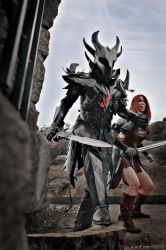 Night to end - Skyrim Daedric and Aela by Ken-Eden