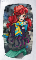 The little mermaid: Rainy day by fra-gai