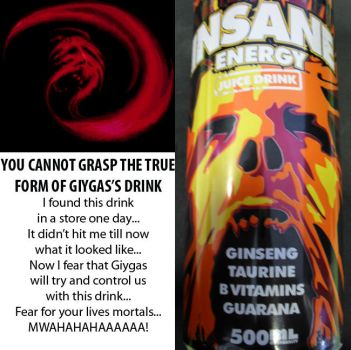 Giygas's Energy Drink by Chrisstiger