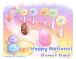 Happy National Donut Day by AquaSparkles