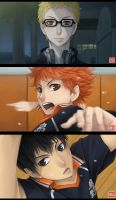 Haikyuu!! screenshots redraw by zero0810
