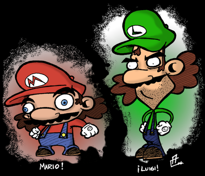 The Mario Brothers by ComicMasterX
