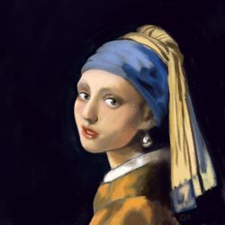 Girl with a Pearl Earring. by StressedJenny
