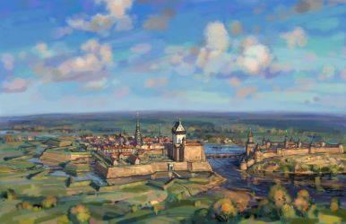 Narva and Ivangorod in the early 18th century by art-bat