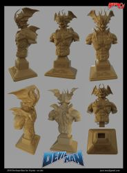 Devil Man Bust for 3D Print - On sale by asgard-knight