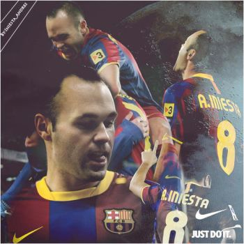 Andres Iniesta 3 by onlmileyrcyrus