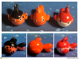 Goldfish Charms by MeckelFoxStudio