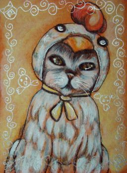 Chinese Zodiac Kitty - ROOSTER by BlackAngel-Diana
