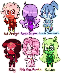 adopts - chibi gems [CLOSED] by sakurablitz