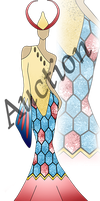 AUCTION (OPEN) - Milotic Inspired Dress by Ovesturia