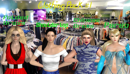 Xnalara Models-Clothing Pack #1 by Cold-Clux