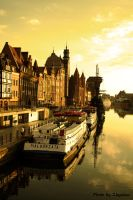 Gdansk Motlawa River by Zbyslaw