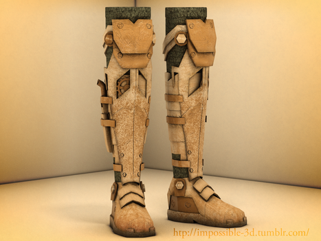 Steampunk Boots by Imp0s5ible