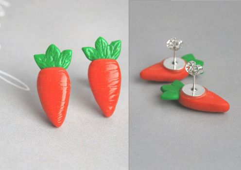 Carrot Ear Studs by Madizzo