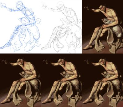 Caravaggio Study - Process by peteropanda