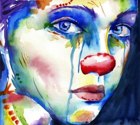 Portrait of a Clown IV by sythesite
