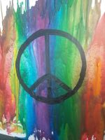 wax art - peace by TaitGallery