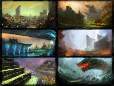 Environment sketches 1 by pav327