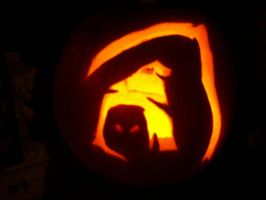 reaper pumpkin dark by Halfdrake010