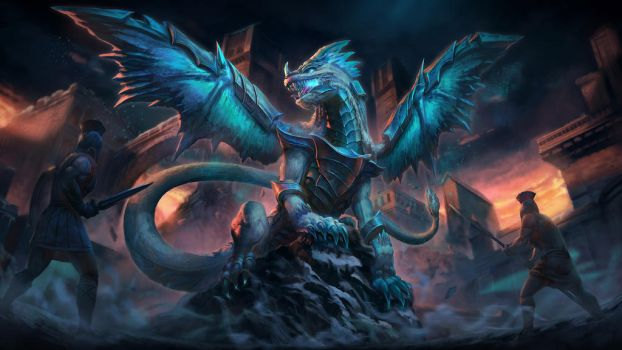 Kukulkan Ice Dragon - Smite by Brolo