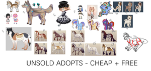 UNSOLD OLD ADOPTS|CHEAP+FREE|OPEN by snowflake990