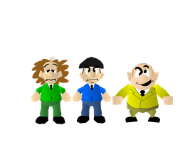 The three stooges in Nintendo 64 style by superzachbros123