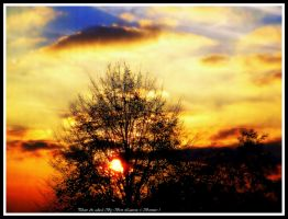 Sunset with orton effect. by Bermiro