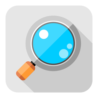 Flat magnifier icon by ivprogrammer