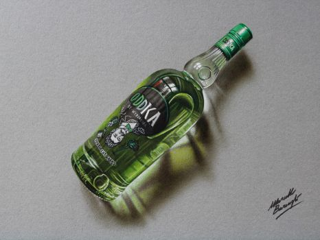Oddka vodka DRAWING by Marcello Barenghi by marcellobarenghi