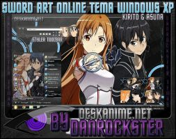 Kirito and Asuna Theme Windows XP by Danrockster