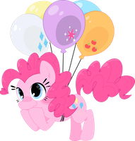 Pinkie's prefered mode of transport by Mochi--Pon