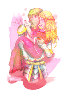 Medieval Aphrodite and Ares by allarica