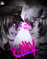 Rivalry - Purple Guy vs Pink Diamond OC by Dcolares
