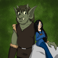 Ogre and Ladyfriend by LisaGreywood