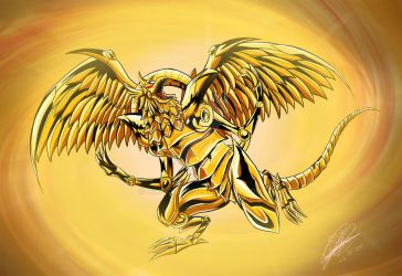 Winged Dragon of Ra (Color) by Himdolion