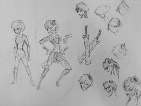 Sketch: Floran character study 1 by woundedskies