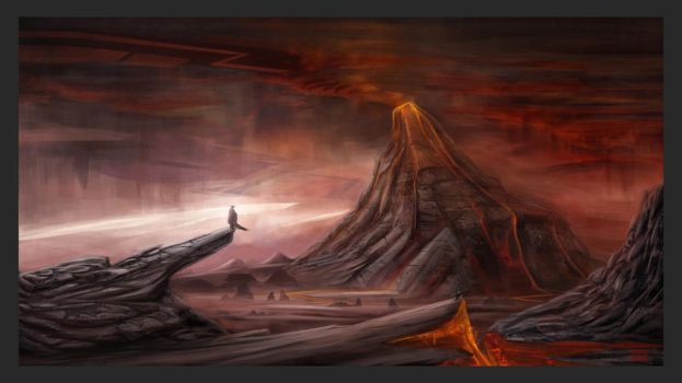 Red mountain by lukkar