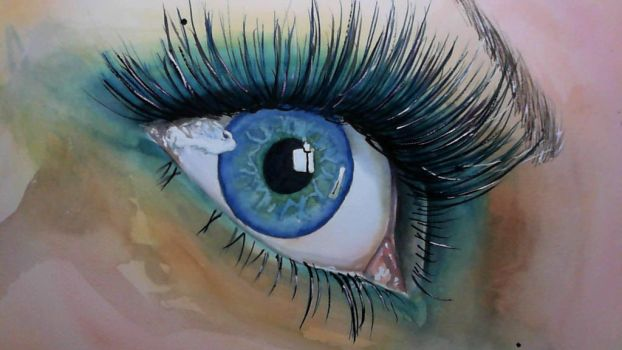 Eye study 20 Dec15 by artbydarryl
