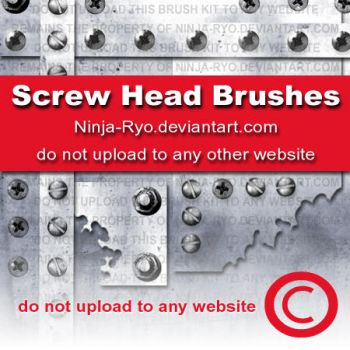 PS6 BRUSHES - Screw Heads by Ninja-Ryo