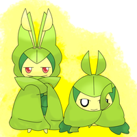 Leavanny and Swadloon