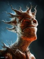 GROOT - Guardians of the Galaxy by lukemandieart