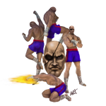 SF 30th Anniversary Tribute - Sagat - SF2 by c-r-o-f-t