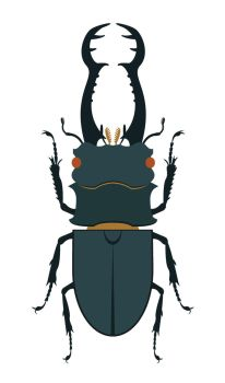 Day 39: Giraffe Stag-Beetle by AnNuttin