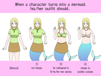 Poll: Outfit Change of Mermaid TF by gomyugomyu
