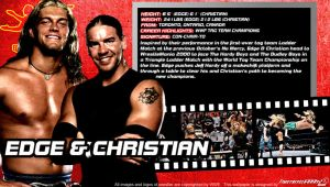 WWE Edge and Christian ID Wallpaper Widescreen by Timetravel6000v2