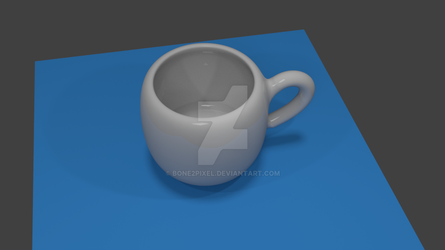 First Teacup 3D Model by Bone2Pixel