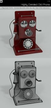 Highly Detailed Old Phone by HollowIchigoBanki