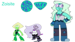 Fan Fusion - Zoisite (Amethyst and Peridot) by Dulcechica19