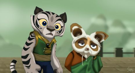 Ling and Shifu by TC-96